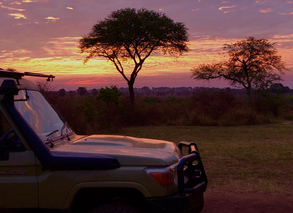 Sunrise at Queen Elizabeth national park